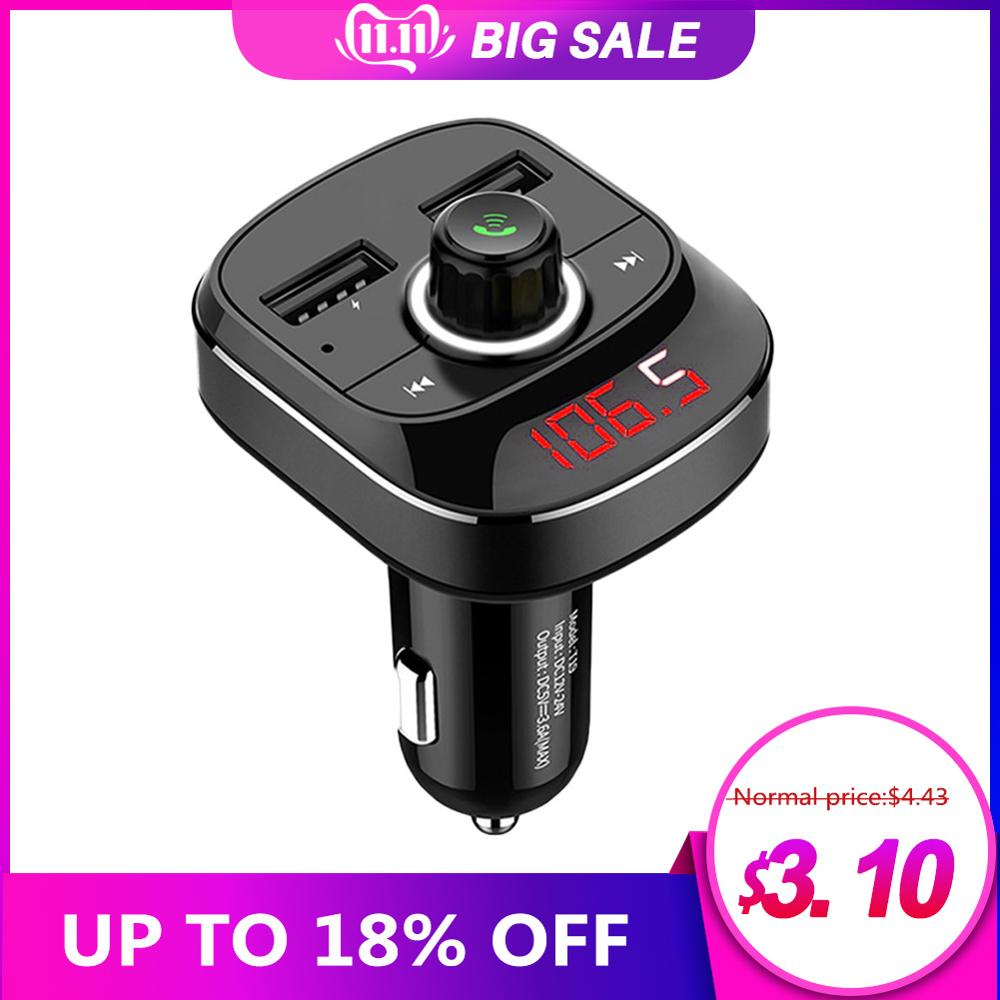 2019 Hot Car MP3 Player Bluetooth FM Transmitter Kit Hands-Free 3.1A Dual USB Car Charger Car Accessories