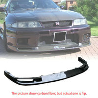 For Nissan R33 Skyline GTR Front Bumper Lip Jun Style FRP Fiber Black or Grey Unpainted Exterior Body accessories kits