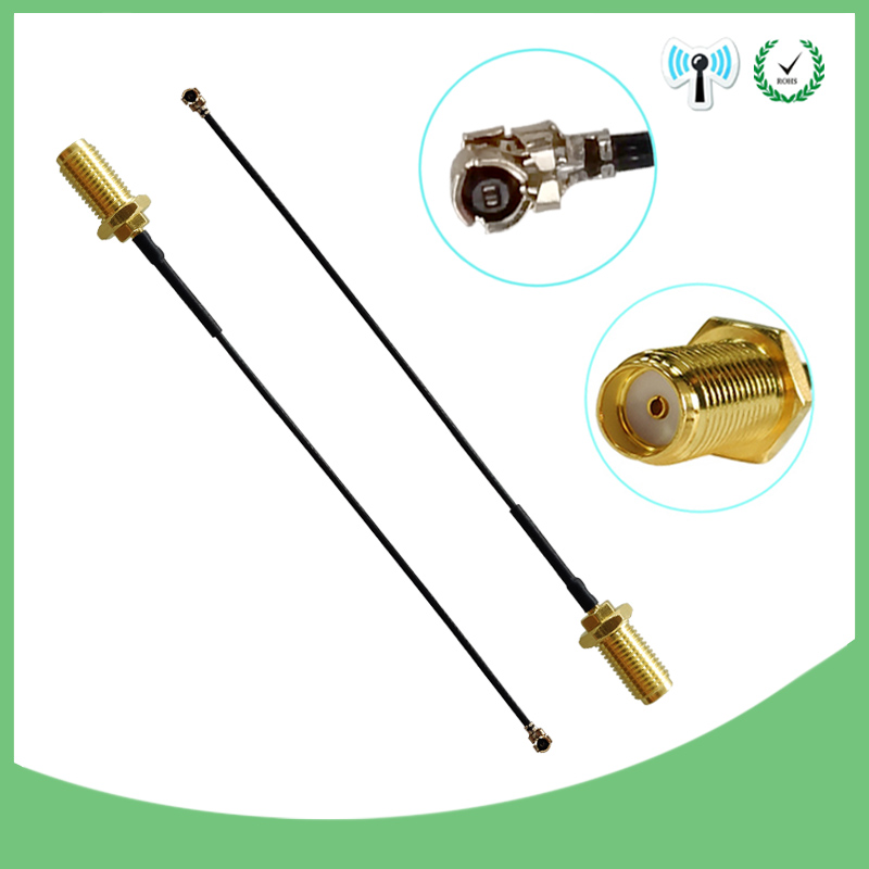 2 Pieces Lot 50cm Extension Cord UFL To RP-SMA Connector Antenna WiFi Pigtail Cable IPX To RP-SMA  Female  To IPX