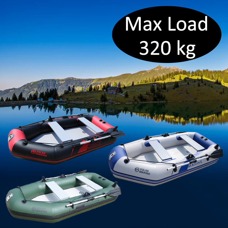 3 Person 230cm PVC Inflatable Rowing Boat Fishing Kayak Canoe Drifting Raft Dinghy Hovercraft Sailboat Surfing Sailing Ship B
