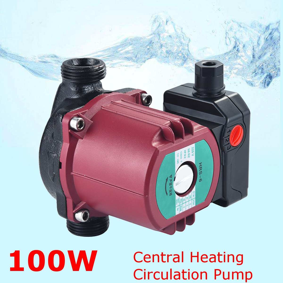 3 Speed 220V Central Heating Circulator Mute Boiler Hot Water Circulating Pump Cold And Hot Water General