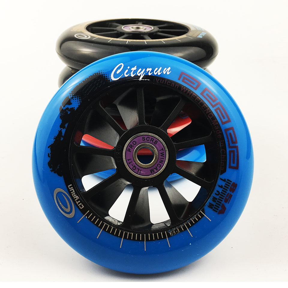 Scooter Wheel With Bearings Cityrun 2 Pieces / lot 85A 90 100 110mm High Elasticity Precision speed skating wheels Skate Tires