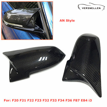 Pair Real Carbon Fiber Mirror Covers for BMW 1 2 3 4 X Series F20 F21 F22 F30 F31 F34GT F32 F33 F36 E84 F87 Mirror Caps AN Style