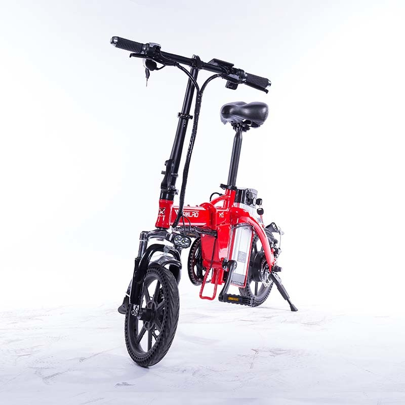 M2 Folding Electric Bicycle 48V Lightweight E-Bike Mini Electric Bike Aluminum Alloy Frame Foldable Ebike with Removable Battery 6