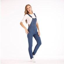 Модный женский мешковатый джинсовый комбинезон с перекрестными