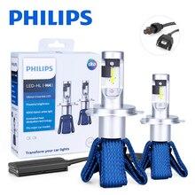 Philips H4 светодиодный 9003 HB2 диодные лампы для автомобилей Бег подсветка Высокая ближнего света Ultinon Эфирное 6000K белый авто фары отражатели 2 шт мощностью 12V