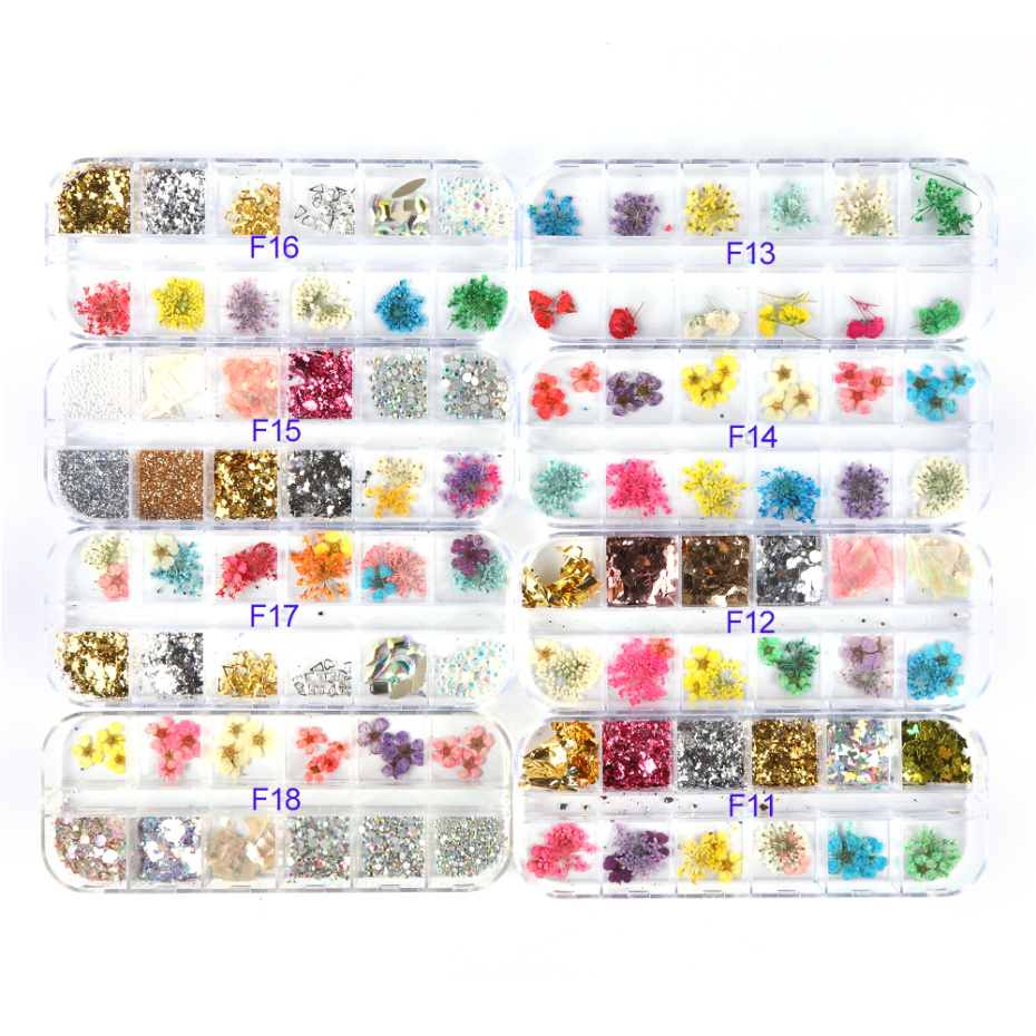 3D Dried Flower Nail Decoration 15