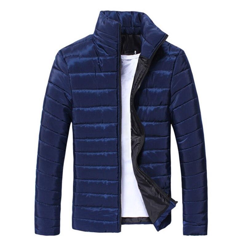 2019 Men Jackets Basic Winter Warm Down Jacket Puffer Coat Stand Collar Zipper Ultralight Mens Outwear
