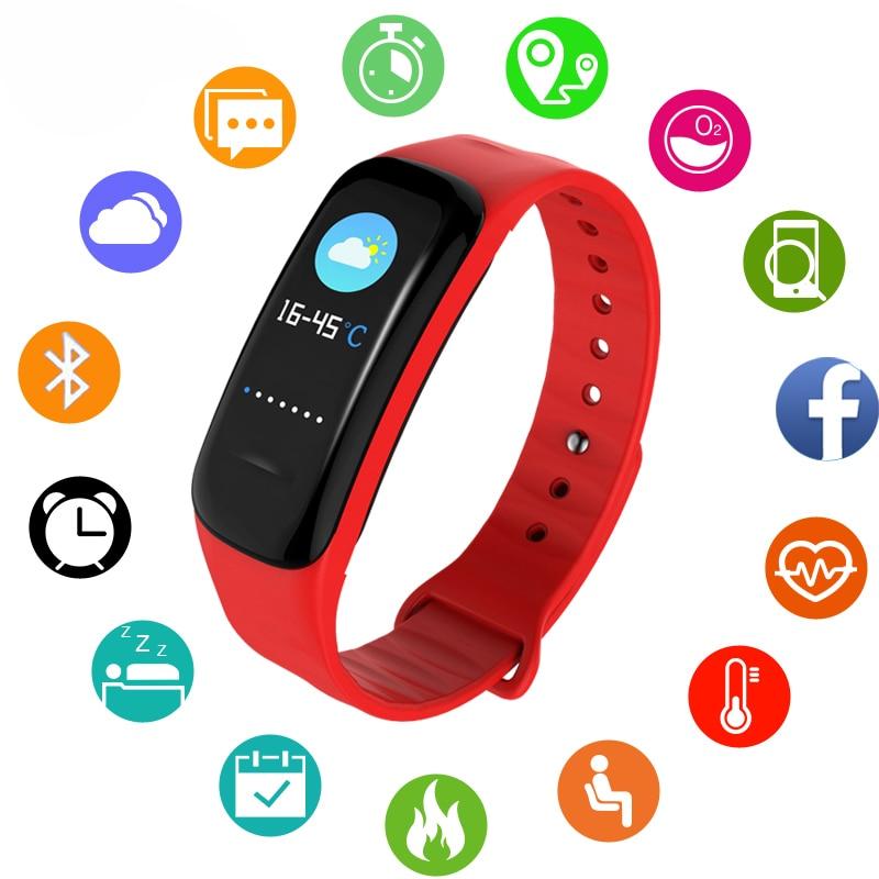 2019 Sport Watch Women Men Children Digital Watch IP67 Waterproof Heart Rate Blood Pressure Bluetooth LED Digital Watches Mens