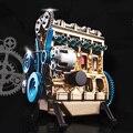 Alle metall Montage Auto Motor Modell Inline 4 Zylinder Motor Modell Kit für Erwachsene Kinder Vorhanden Geschenk Hause Desktop decor Kits-in Figuren & Miniaturen aus Heim und Garten bei