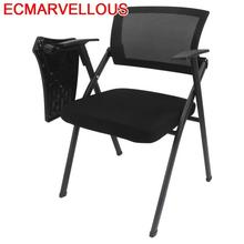 Cadeira Com Escrita Conferencia Kursi Staf Silla De Oficina Sedie Moderne Pieghevoli Board Folding Office Conference Chair