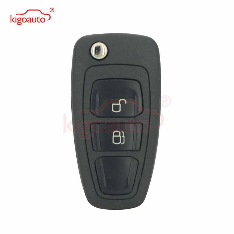 Kigoauto 5WK50165 clé 2 bouton 434mhz FSK 4D63 puce HU101 pour Ford Ranger 2011 2012 2013 2014 2015