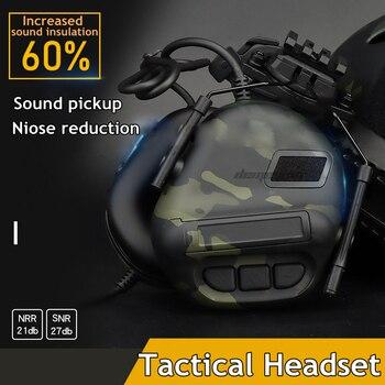 Тактический шлем гарнитура шумоподавление звук пикап армейская съемка Защита слуха наушники военные страйкбол наушники