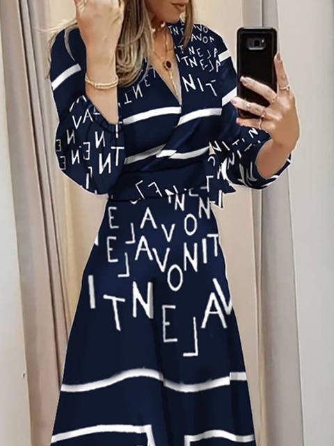 женское платье макси с рукавами фонариками многослойным принтом фотография