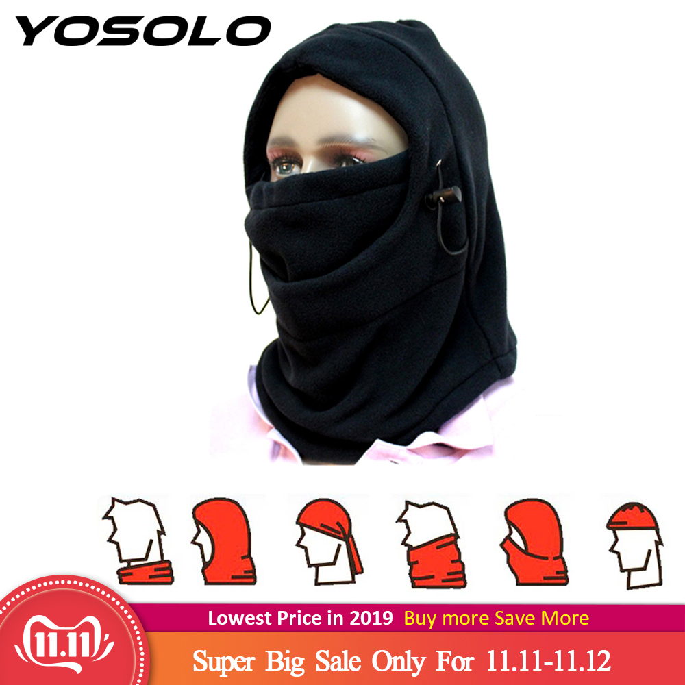 YOSOLO Warm Full Face Mask Headgear Winter Hat Motorcycle Bicycle Beanies Balaclava Hood Fleece Mask and Neck Coverage Design-in Motorcycle Face Mask from Automobiles & Motorcycles