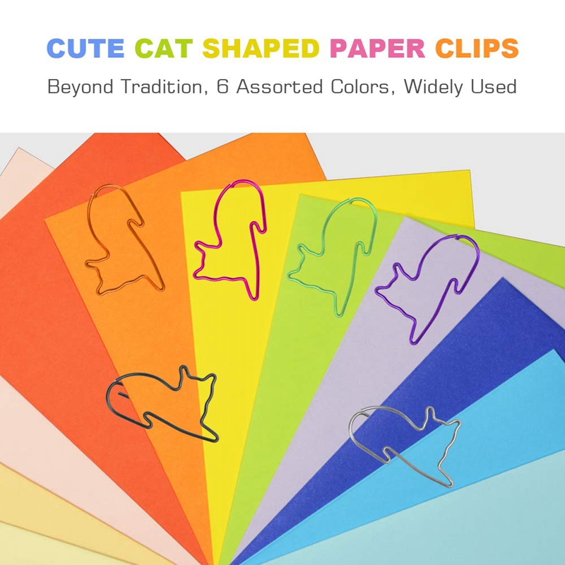 Cat Paper Clips 100 Pcs Cat Gifts For Cat Lovers Cat Office Supplies For Teacher Office Gifts Cat For Lover