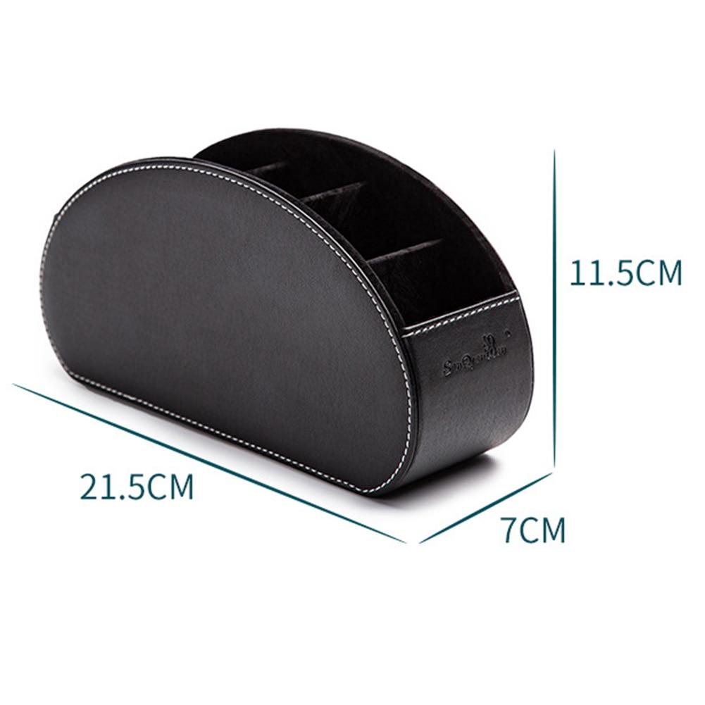 PU Leather Storage Boxes Home Organizer Bins Leather Phone/TV Remote Control Storage Box Home Desk Organizer Holder