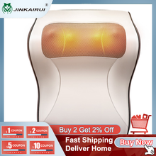 Jinkairui Kneading Cervical Massager Pillow Neck Shoulder Back Waist Body Car Home Use Best Choice as Gift Relief Pressure