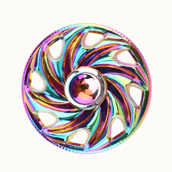 Colorful Alloy Hand Spinner for ADHD Fidget EDC Circular Wheel Relief Focus Anxiety Stress Fidget Spinner Toy led light finger spinner aluminum edc hand spinner for autism and adhd anxiety stress relief focus toys gift m2
