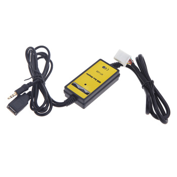 Hot Auto Car Aux USB Cable Adapter MP3 Player Radio adapter forfor Toyota Camry/Corolla/Matrix 2*6Pin