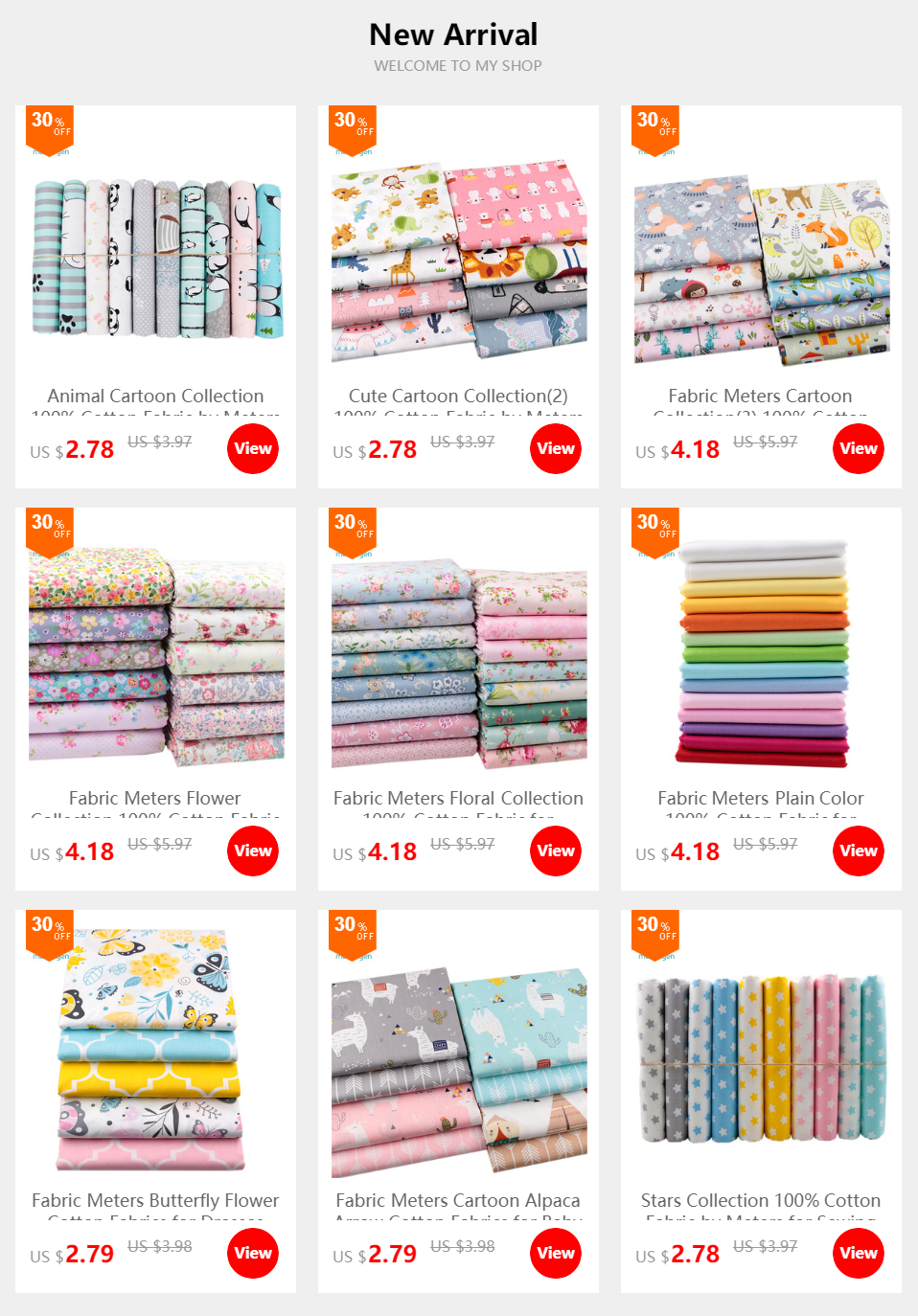 Hae2b68c77da04cc5bc412894f622c986J 20cmx25cm and 25cmx25cm Cotton Fabric Printed Cloth Sewing Quilting Fabrics for Patchwork Needlework DIY Handmade Material