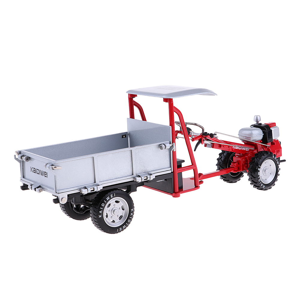 1:16 Scale Alloy Harvester Vehicle Retro Tractor Model for Birthday Gifts