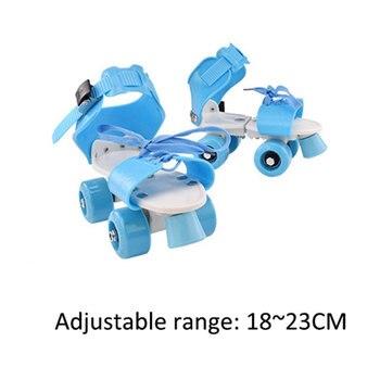 Children Adjustable Roller Skate Shoes Double Row 4 Wheels Skating Shoes Sliding Slalom Inline Skates Kids Gifts Roller Sneakers