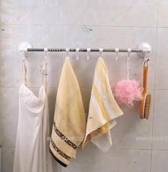 Shuangqing 60 см для полотенец, на присоске стойка Nailless отверстие-сверление одностержневая вешалка для полотенец для ванной присоска крючок