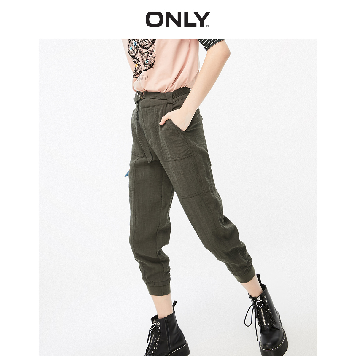 ONLY Women's High-rise Crop Pants | 119250505