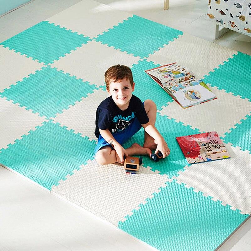 10Pcs/Set Children's Mat Toys 0.8CM EVA Mat Puzzle Baby Play Mat Soft Crawling Mat Kids Carpet Rug Safety Game Educational Mat