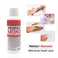 100ml Acrylic Liquid Monomer Acryl Gel For Nail Extension Clear Acrylic Powder Nails Desgin Gel Polish Kit High Quality Tools