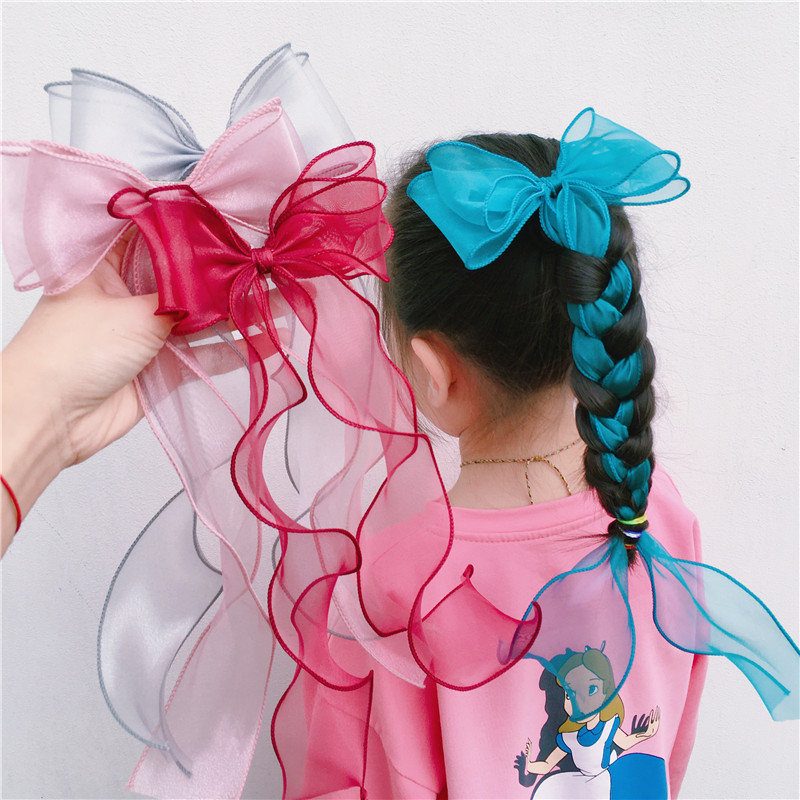 2/3 Pcs/Set Children Cute Colors Ribbon Lace Bow Ornament Hair Clips Girls Lovely Sweet Barrettes Hairpins Kids Hair Accessories