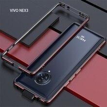 Vivo Nex için 3 Metal çerçeve çift renkli alüminyum tampon koruyucu kapak için Vivo Nex 3 Nex3 5G durumda