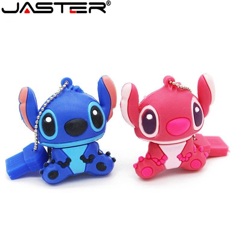 JASTER Stitch USB Flash Drives 8GB 16GB 32GB 64GB Pen Drives Flash Card External Storage Cartoon Usb Flash Drive The Best Gift