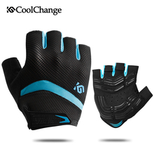 цена на CoolChange Cycling Gloves Half Finger Shockproof Breathable GEL Bike Gloves MTB Mens Women's Sports Anti-slip Bicycle Gloves
