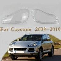 For Porsche Cayenne 2008 2010 Headlight Shell Lamp Shade Transparent Lens Cover Headlight Glass Headlamp Cover