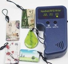 125Khz כף יד RFID סופר קורא מזהה שלט כרטיס מעתק מעתיק + 5pcs לכתיבה T5577 אפוקסי מפתחות