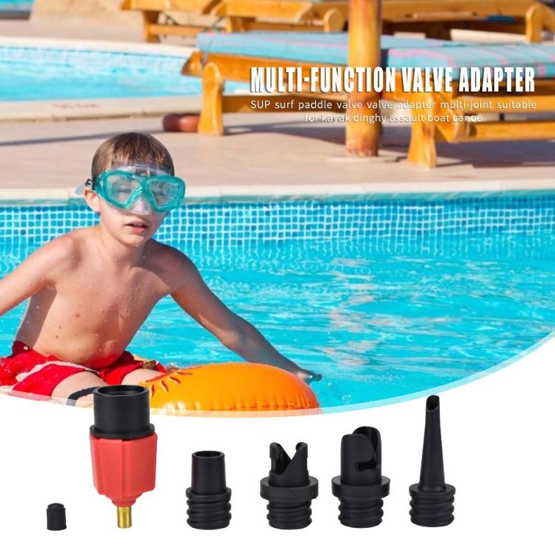 Inflatable Rowing Boat Air Valves Adaptor Set SUP Kayak Air Pump Hose Adapter Cooperate With Automobile Air Pump For Stormboat
