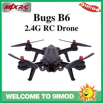MJX B6 Bugs 6 2.4G RC Racing Drone 2204 1800KV Brushless Motors 6 Axis Gyro High Speed RTF RC Quadcopter Angle/Acro Mode mjx bugs b6 racing rc quadcopter mini drone with camera 2mp rc quadrocopter helicopter aircraft fpv drone real time image rtf