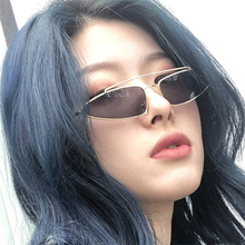 2019 small frame metal double beam sunglasses European and American cat's eye oc