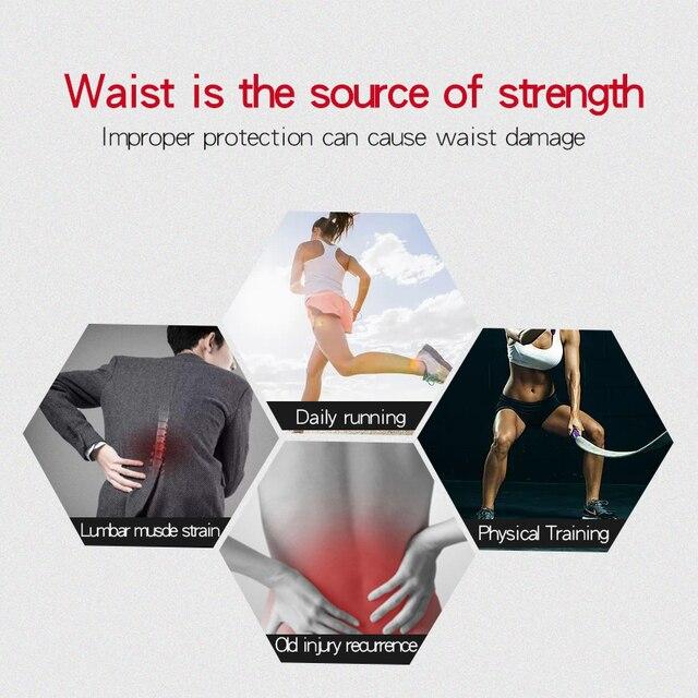 Waist Trimmer Trainer Fitness Gear Utility Belt Adult Sweet Sweat Fajas Lumbares Hombre Sport Belt Workout Back Support Brace 3