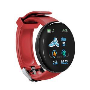Мужские умные часы D18 с Bluetooth, водонепроницаемый спортивный фитнес-трекер, браслет с пульсометром, водонепроницаемый ремешок для измерения ...