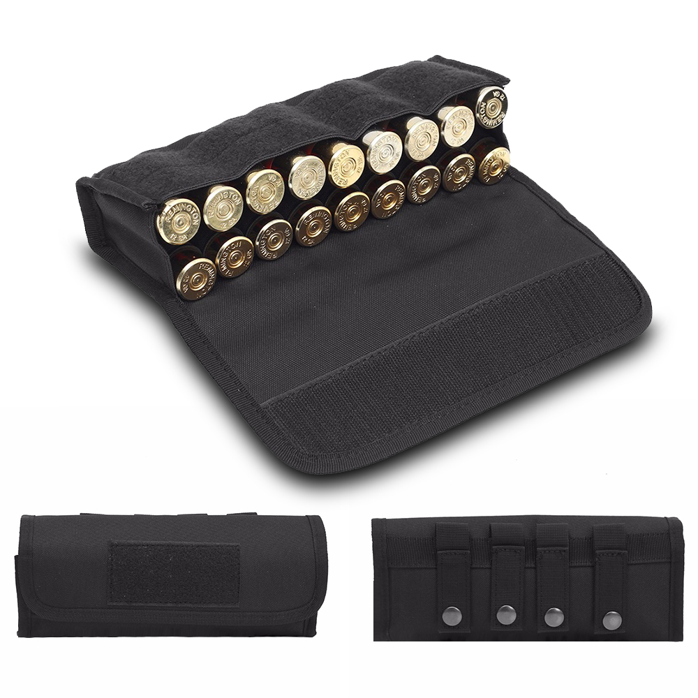 18 Round Tactical Shell Holder Ammo Bag 12/20 Gauge Shotgun Cartridges Bullet Pouch Hunting Shooting Military Molle Waist Bag