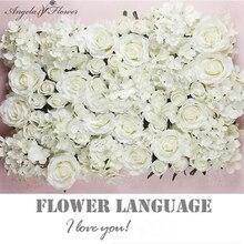 FAI DA TE artificiale del fiore della rosa di seta testa di fiore decorativo hotel sfondo Strada di nozze a led della parete del fiore materiali teste 100 pz/lotto