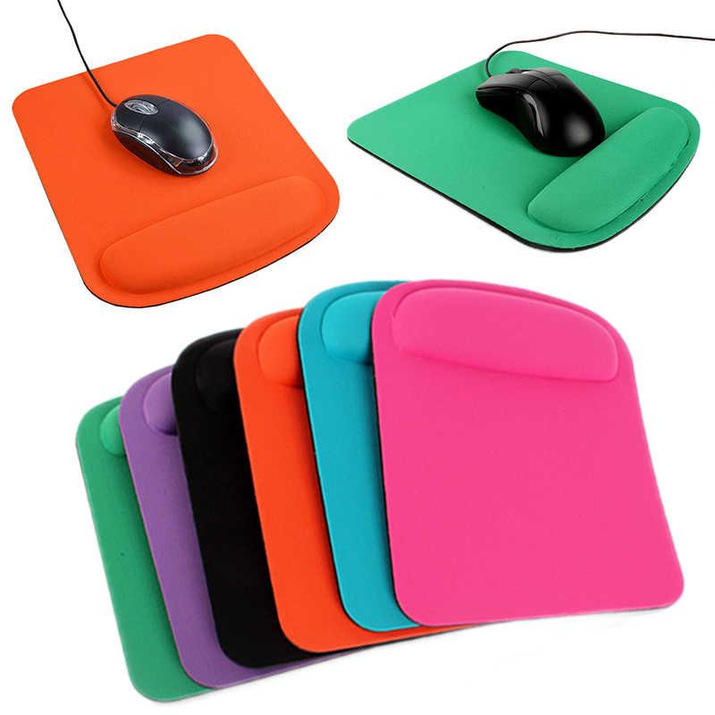正方形リストレストマウスパッドゲームマウスマットパッド softable 抗マウス pc のラップトップコンピュータ用のアクセサリー