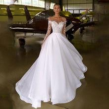 Женское свадебное платье из органзы белое или цвета слоновой