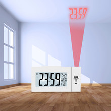 Digital LCD Alarm Clock Time Projection Ceiling Display Snooze Desk Table Clock Temperature Thermometer USB Home Decor Hot(China)
