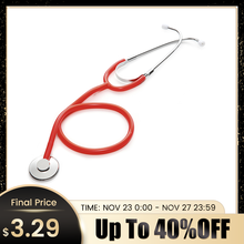 Single Head Medical Stethoscope Doctor Professional Phonendoscope Cardiologyอุปกรณ์การแพทย์ทางการแพทย์อุปกรณ์Vetพยาบาล