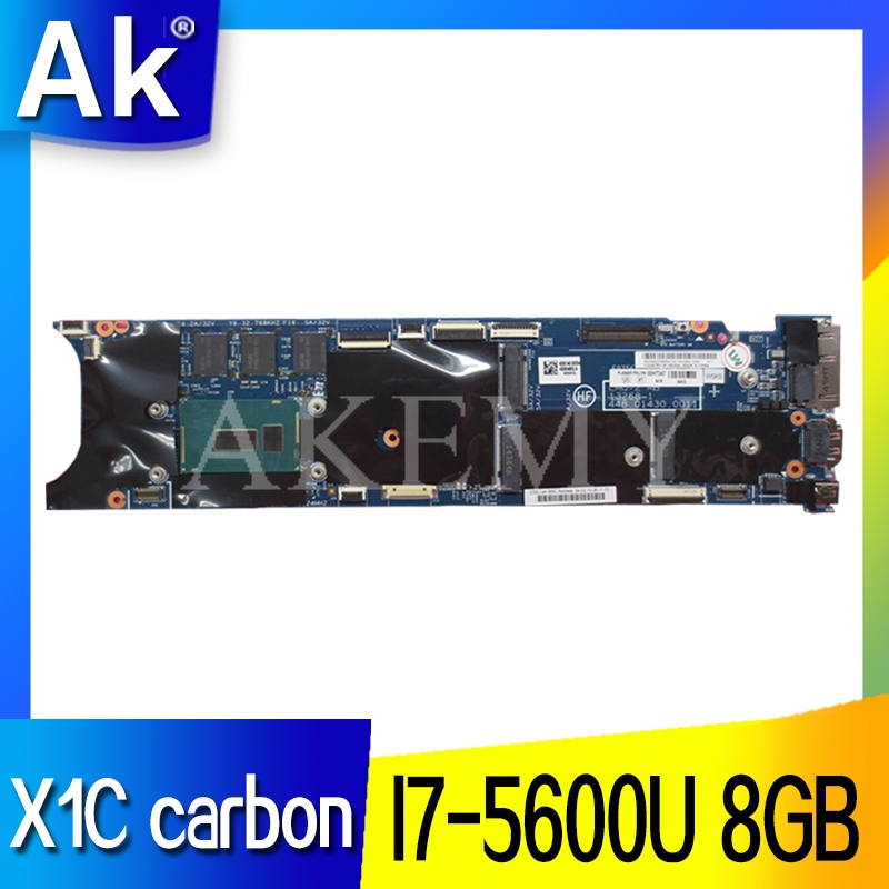 13268-1 448.01430.0011 placa base original para ThinkPad X1C X1 carbon 2015 <font><b>I7</b></font>-<font><b>5600U</b></font> RMA 8G 00HT361 Laptop motherboard image