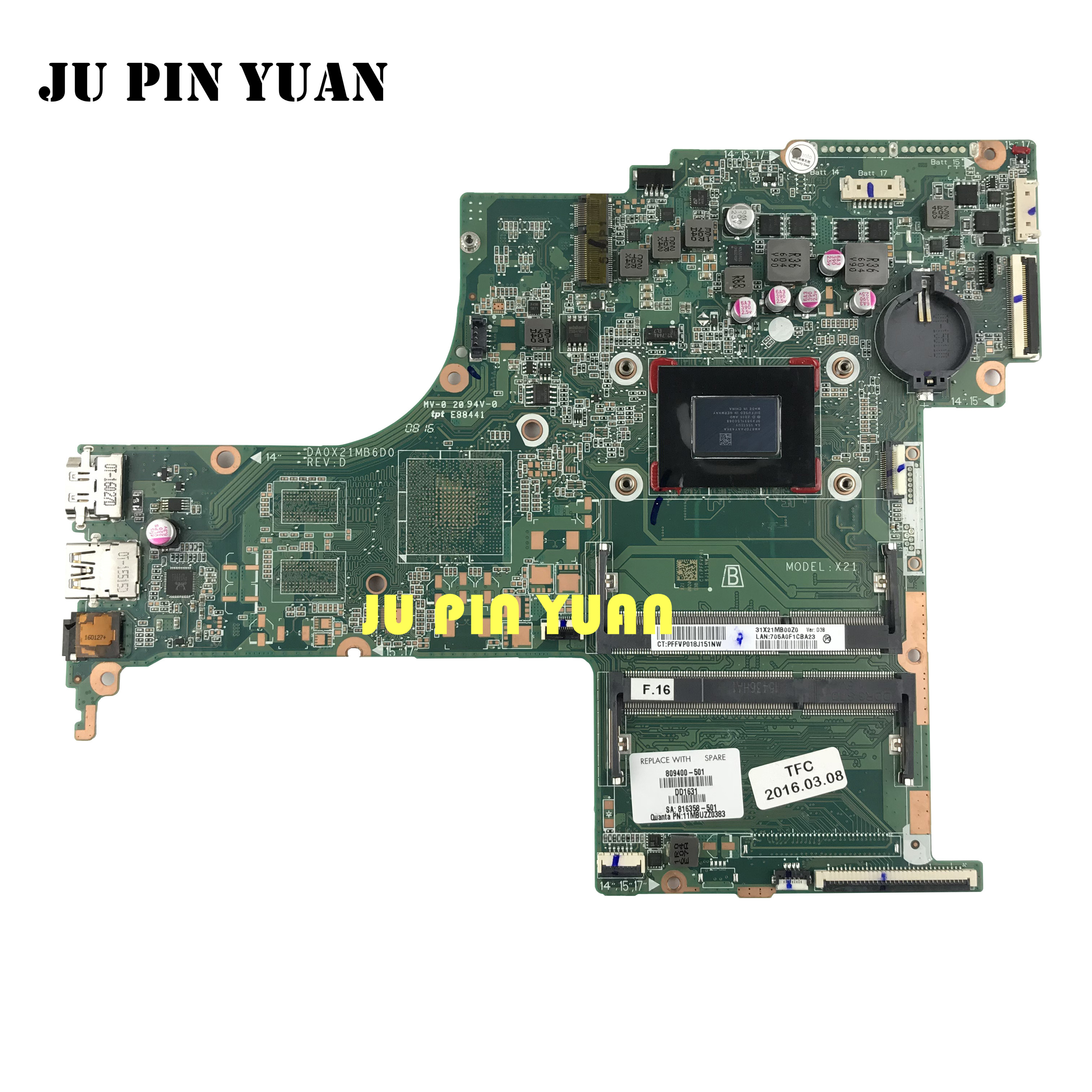 809400-501 809400-601 DA0X21MB6D0 X21 Für HP Pavilion 17-G 17-G121WM Motherboard Mit A10-8700P Alle Vollständig Getestet